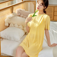 睡裙女夏季薄款冰丝无痕舒适透气宽松连衣裙