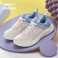鸿星尔克女轻便运动鞋女活力运动透气女鞋 52121103065 橡芽白/氢气蓝 35
