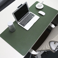 BUBM 必优美 鼠标垫大号办公室桌垫笔记本电脑垫键盘垫办公写字台桌垫游戏家用垫子防水支持大货定制 墨绿色大号单面