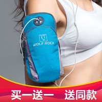 跑步手机臂包 男女运动臂包跑步手臂包运动臂套苹果11/X/XR/P30 蓝色-常规版 (适合手机长度15.2cm内)