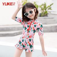 YUKE 羽克 Yuke)儿童连体比基尼游泳衣