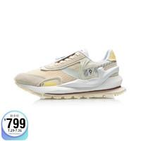 LI-NING 李宁 女鞋运动时尚鞋2021中国李宁春夏巴黎时装周系列92方圆Deluxe女子经典休闲鞋AGCR058
