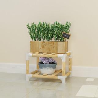 华哩哩 花架 实木花架子 客厅阳台室内多层落地式花盆架子 花开富贵A01