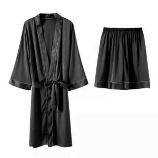 圣迪亚丝 夏季冰丝性感睡衣睡袍