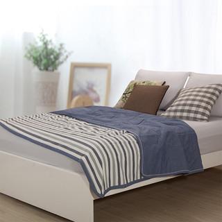 辰枫 家纺 夏凉被纯棉夏被纯棉空调被水洗 蓝白条纹9 150*200cm