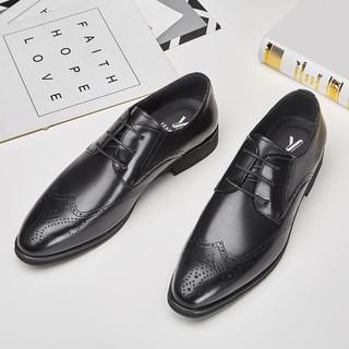 YEARCON 意尔康 21新款英伦德比鞋婚鞋商务正装皮鞋夏季牛皮男皮鞋男鞋