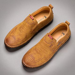 PLOVER 啄木鸟 Plover皮鞋男商务休闲透气韩版潮流英伦软底2020新款夏季爸爸鞋男