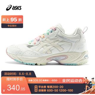 ASICS 亚瑟士 2021春夏女子复古老爹鞋运动鞋舒适透气休闲鞋GEL-100TR 白色/米黄色 38