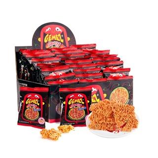 GEMEZ Enaak 印尼GEMEZ膨化零食香辣小鸡火鸡干脆捏碎面礼包14g×30包
