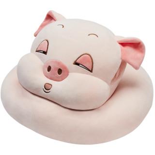 NITTAYA 妮泰雅 泰国进口成人中小学生天然乳胶枕头趴睡枕可爱卡通办公室午睡枕趴着睡觉神器 瞌睡猪