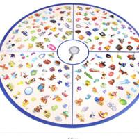 脑力大作战 儿童小侦探找图桌游  60张线索牌+12个标记+60个侦探环