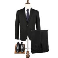SEVEN 柒牌 男士西服套装商务休闲套西修身净色职场正装礼服