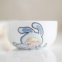 NOSIN 诺轩 12生肖碗可爱卡通碗实用儿童餐具陶瓷韩式碗 套装家庭餐具