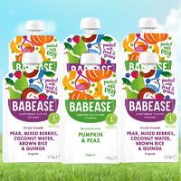 BABEASE健康进口有机蔬菜泥宝宝辅食泥无添加果泥婴儿100g*6