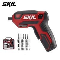 SKIL 4V电动螺丝刀套装42件套5618家具安装电起子电批多功能拧螺丝刀家用小巧易收纳