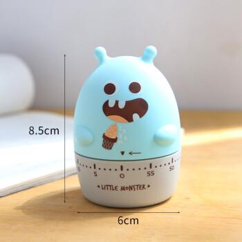 古达 创意学生时间管理器 厨房计时器学习效率计时器 机械提醒器定时器 蓝色 小怪兽系列