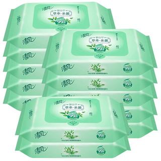 Breeze 清风 湿巾 御本草 杀菌湿纸巾 抽取式 40片*12包(整箱销售)