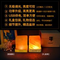 ciaodo喜马拉雅玫瑰盐灯充电负离子净化厕所卧室助眠遥控变色小夜灯礼物