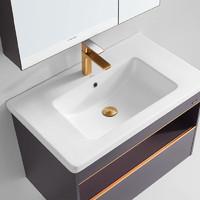 FAENZA 法恩莎 浴室柜新品组合收纳卫生间洗漱台洗手池一体