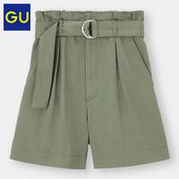 GU 极优 女装高腰短裤时尚洋气显瘦短裤女百搭331372