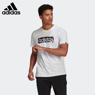 adidas 阿迪达斯 短袖男2021夏季新款运动服体恤衫宽松圆领半袖T恤
