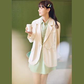 气质简约西装2021夏季新款高级感西装外套女宽松薄款
