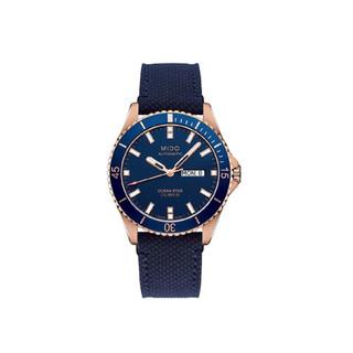 MIDO 美度 海洋之星领航者全自动尼龙表带男士机械手表