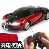 哦咯 儿童玩具遥控车赛车布加迪模型