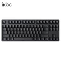 iKBC ikbc87 W200/210樱桃轴无线2.4G游戏办公 笔记本电脑机械键盘 W200黑色无线2.4G87键 红轴