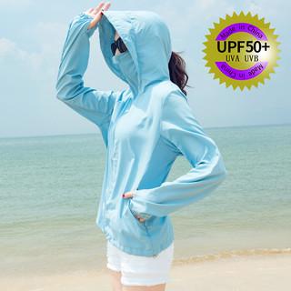 防晒衣女2021新款夏季韩版百搭防紫外线薄款防晒衫防晒服短款外套