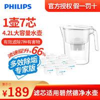 PHILIPS 飞利浦 净水壶 家用滤水壶 厨房自来水净水器滤芯
