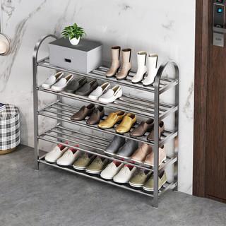 溢彩年华 加厚不锈钢鞋架子简易家用门口多层经济型宿舍置物架小鞋柜1109-SR