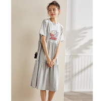 TONLION 唐狮 [猫和老鼠联名]唐狮2021夏新款T恤裙显瘦短袖娃娃裙小个子连衣裙