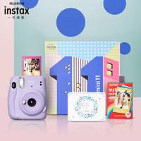 INSTAX 富士instax立拍立得 一次成像相机 mini11精美礼盒 丁香紫(含10张相纸)