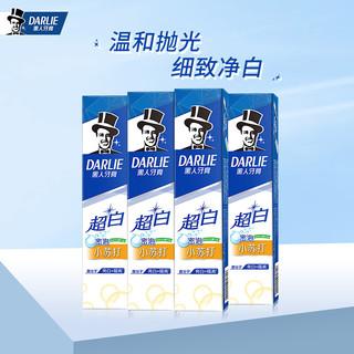DARLIE 黑人 牙膏超白竹炭小苏打亮白套装护理牙周防蛀改善牙渍牙刷含氟牙膏 超白小苏打140g*4