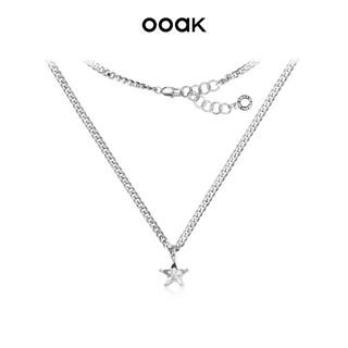 OOAK 闪耀系列奥地利水晶星星银色锁骨链项链