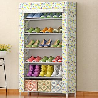 索尔诺 加厚无纺布鞋柜 加固防尘防水鞋厨 六层简易鞋柜收纳柜