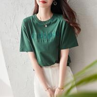 dme 德玛纳 设计师推荐款-2021新款个性时尚圆领短袖T恤女