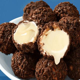 爆浆曲奇小丸子夹心巧克力休闲零食品小吃甜点网红饼干整箱 巧克力