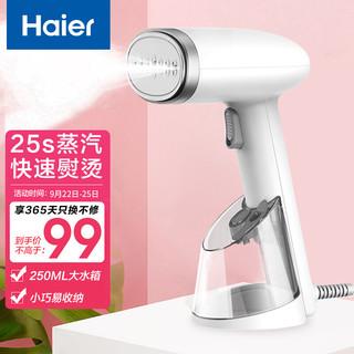 Haier 海尔 手持挂烫机家用小型蒸汽熨斗 熨烫机 便携式旅行电熨斗HY-GW2502W