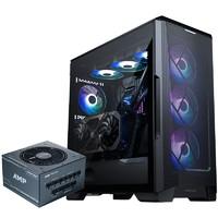 PHANTEKS 追风者 P500A 黑色侧透水冷电脑机箱 AMP 750W金牌全模组电源套装