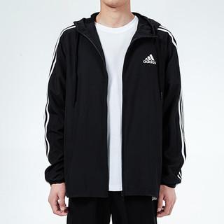 adidas 阿迪达斯 秋季新款时尚男子梭织夹克运动休闲外套训练男装开衫宽松