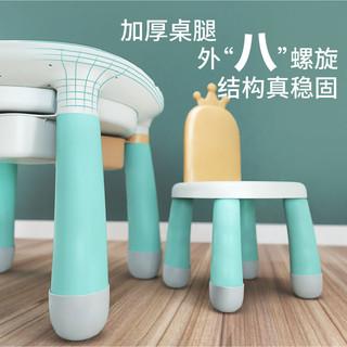 火火兔 儿童积木桌多功能男女2岁以上大颗粒组装拼装拼插积木玩具