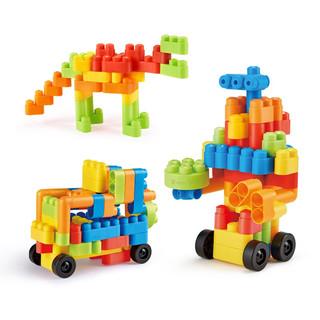 Hape 儿童玩具塑料积木大颗粒 柔性积木80粒