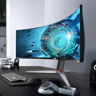 AOC 冠捷 200Hz电竞显示器2K高清21:9带鱼屏30英寸曲面CQ30G3Z电脑宽屏