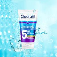 英国Clearasil水杨酸洁面男女控油抗痘多效五合一洗面奶
