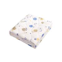 2021新款绘睡被子 letsleep绘睡儿童竹棉纱布绗缝被夏被空调被防螨A类安 姜黄色 150x200cm