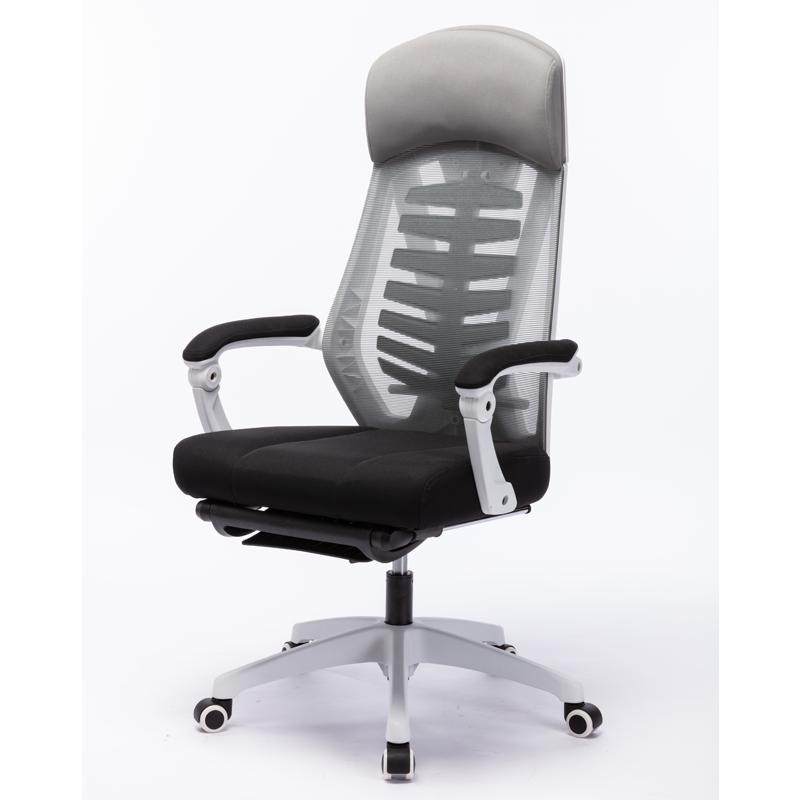 网易严选 人体工学椅电脑椅办公椅子电竞椅家用转椅老板椅座椅可躺靠背椅伸缩脚踏155°大仰角午休椅 白色