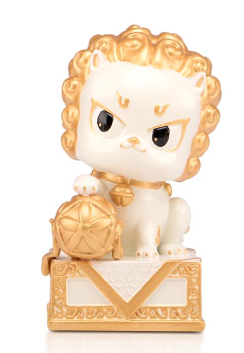 故宫狮-艺术摆件 萌动小狮子600年纪念 白色威武狮