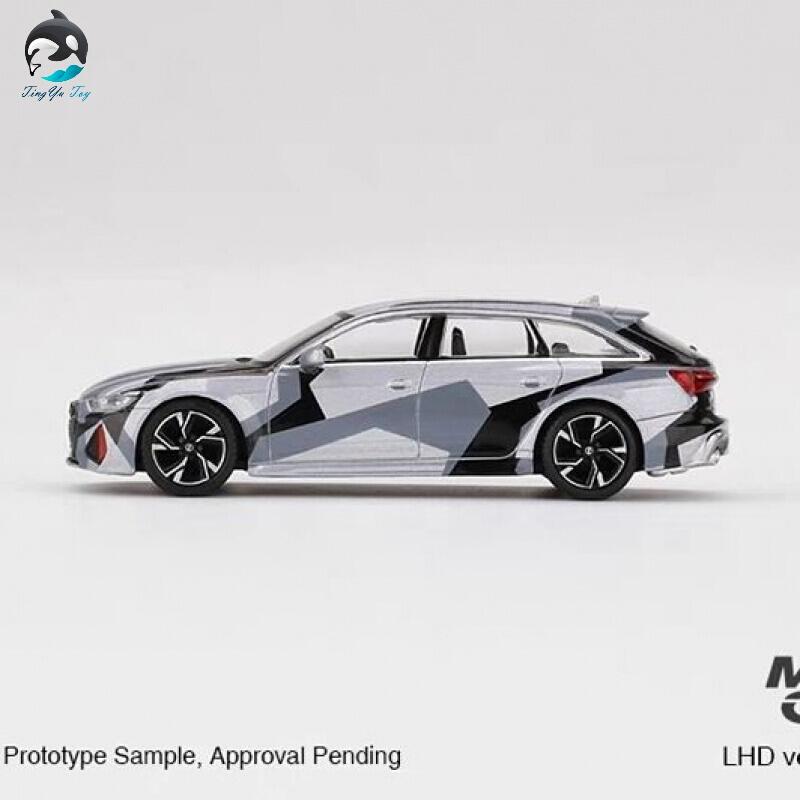 MINI GT 1:64 奥迪 RS6 Avant 瓦罐旅行车礼物合金汽车模型定制 不带行李箱版